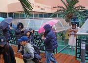 6일 경주엑스포 공원을 찾은 대만 단체관광객이 경주타워 오아시스 정원에 위치한 스카이 워크를 체험하고 있다